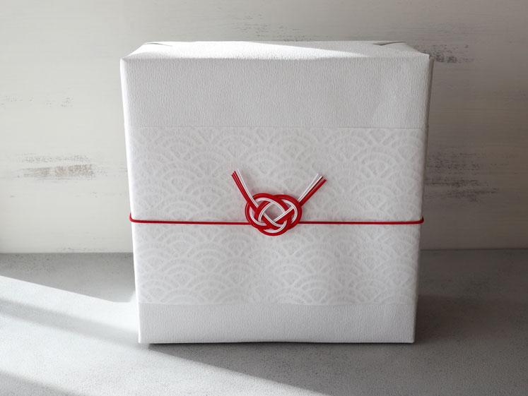 箱+包装紙+和紙帯紙+水引ゴム(結び切り)