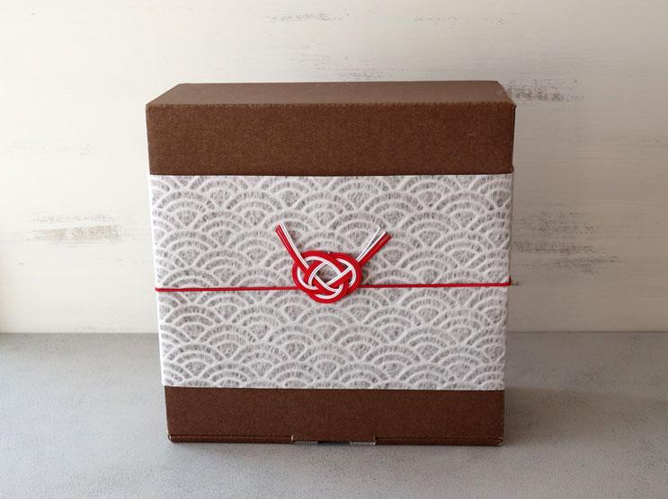 箱+和紙帯紙+水引ゴム(結び切り)