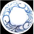 砥部焼文様:縁唐草紋